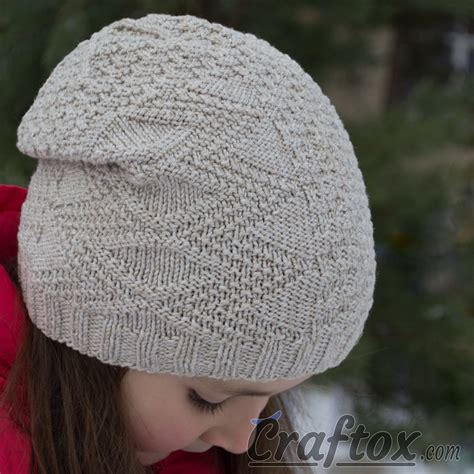 slouchy hat knitting pattern for beginners child s slouchy beanie hat quot temper quot free knitting