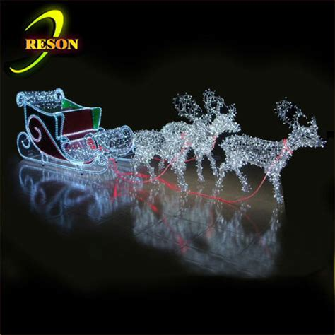outdoor decorations santa and reindeer lighted santa sleigh and reindeer outdoor decoration memes