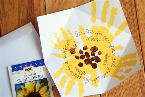 mothers day cards ideas for children to make how to s day sunflower handprint card