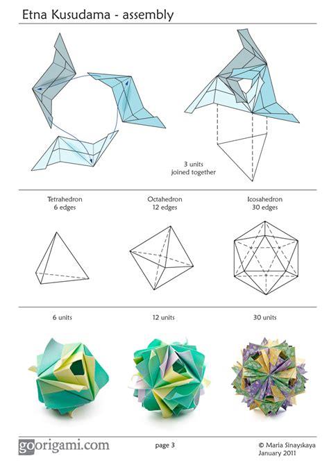 origami diagrams pdf etna kusudama by sinayskaya diagram go origami
