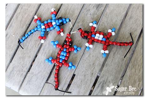 bead craft projects pony bead lizard tutorial sugar bee crafts