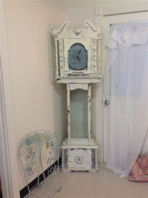 shabby chic clocks shabby chic grandfather clock beachy chic