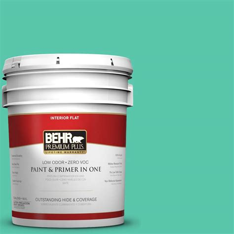 home depot 5 gallon interior paint behr premium plus 5 gal p430 4 kauai flat interior paint 140005 the home depot