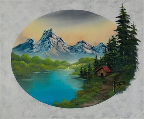 bob ross painting house in the valley 86037 painting bob ross in the