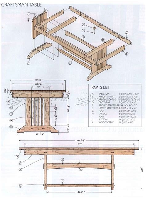 mission style woodworking plans 1919 craftsman style dining table plans woodarchivist