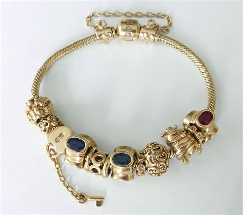 jewelry and charms pandora gold charm bracelets at 1stdibs