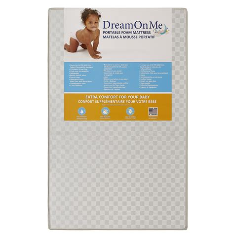 on me crib mattress on me 3 inch portable crib mattress deream on me