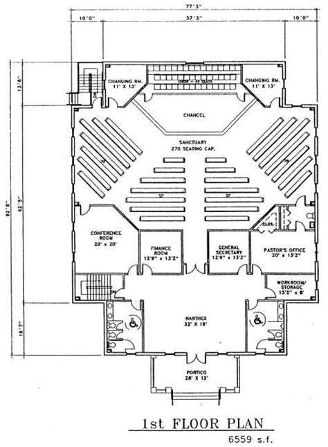 church floor plans free church plan 149 lth steel structures