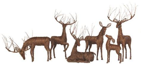 lighted grapevine deer decor sculptures holidays