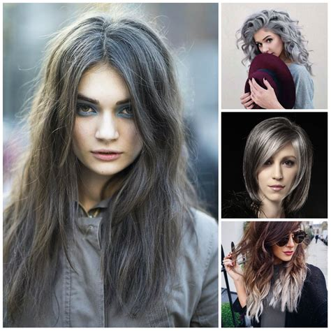 popular trending gray hair colors shiny silver hair colors for 2017 new hair color ideas