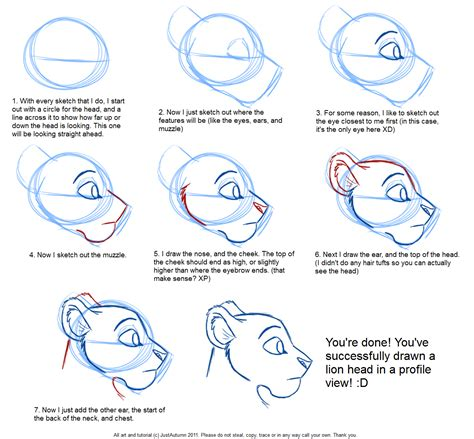 drawing tutorials how to draw feline profile tutorial by justautumn on