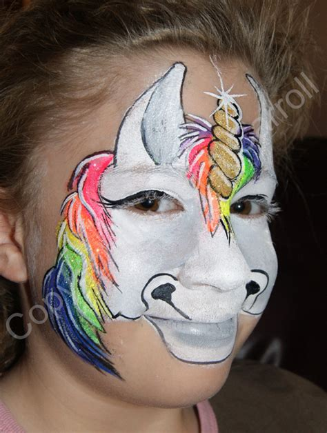 transformations by tina face amp body art full face unicorn