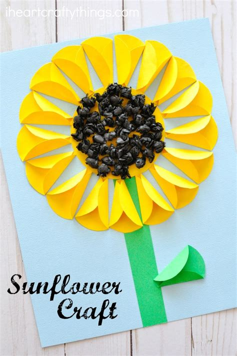 sunflower paper craft folded paper sunflower craft i crafty things