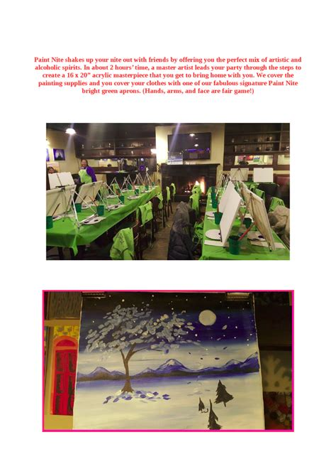 paint nite ques bar paint nite in yonkers restaurants authorstream