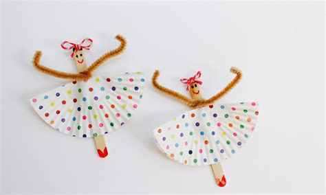 how to do craft for easy craft how to make popsicle stick ballerinas