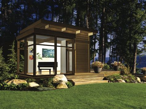 Motorhome Garage Plans eco friendly modern studio kit by lindal cedar homes