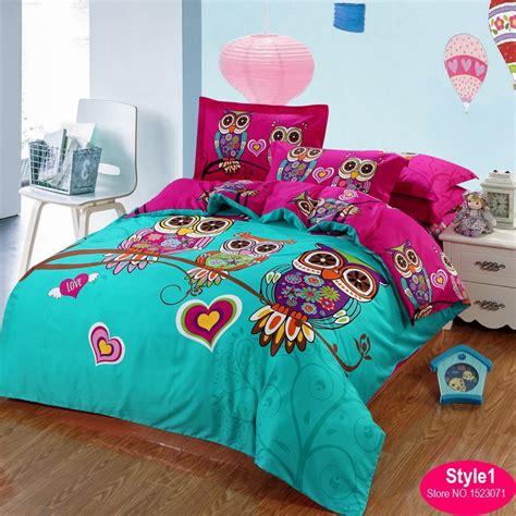 size kid bedding set 100 cotton owl bedding set 3d bedding