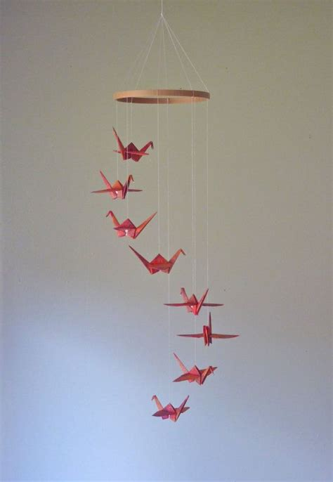 origami baby mobile origami crane mobile eco friendly baby mobile children