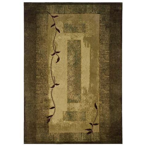 allen roth holder rectangular green block area rug
