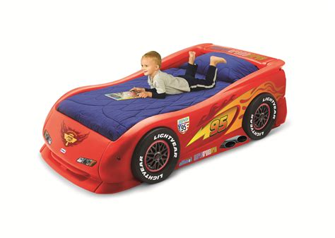 tikes lightning mcqueen race car bed tikes lightning mcqueen sports car bed by oj