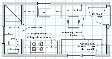 how to draw a tiny house floor plan