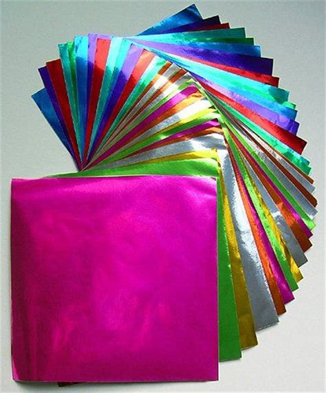 paper foil craft large origami color foil paper craft from
