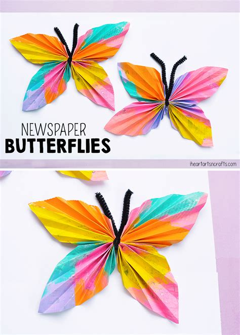 butterfly crafts for newspaper butterfly craft i arts n crafts