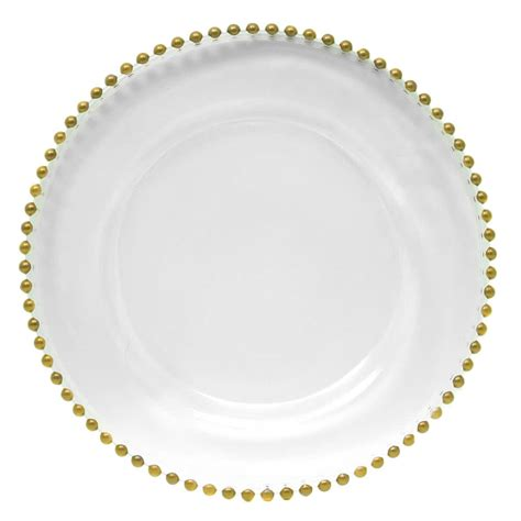 gold beaded charger plates wholesale the companies 13 quot gold beaded glass charger plate