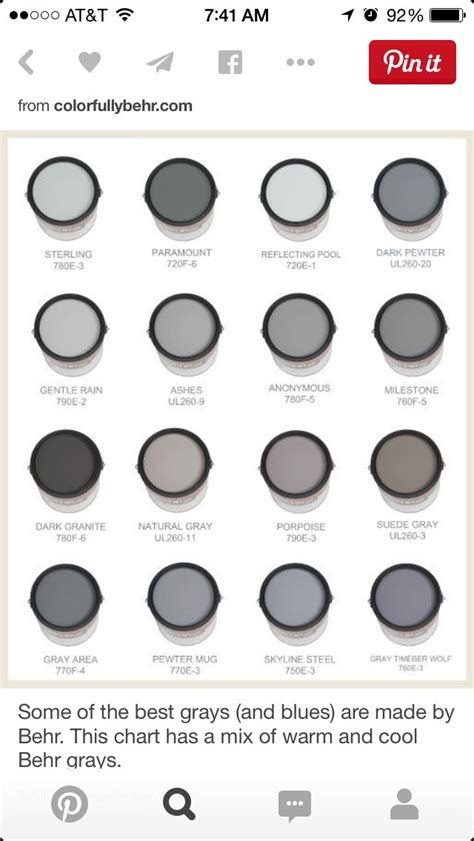 behr paint color chart gray 83 best paint images on wall colors