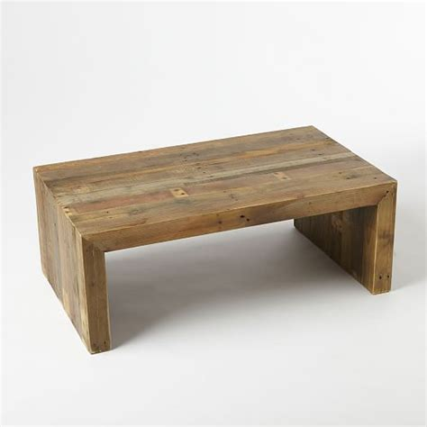 wood coffee tables emmerson 174 reclaimed wood coffee table west elm