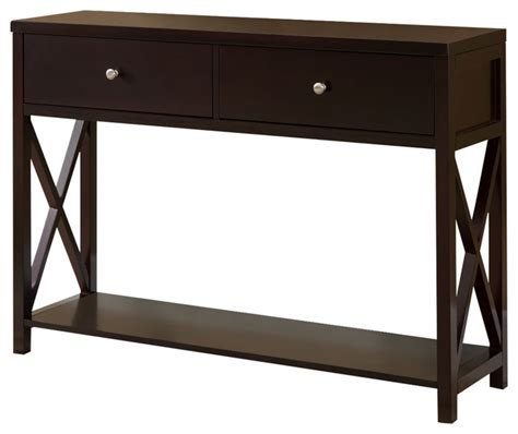 cherry sofa table with storage wood console sofa table with drawers cherry console