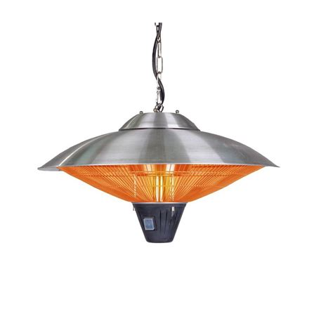 sense halogen patio heater sense 1 500 watt stainless steel hanging halogen