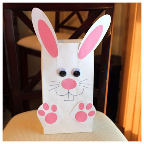 paper bag bunny craft hoyby crafts bunny bag template included