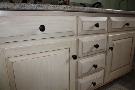Distressed White Bathroom Cabinets by Antiqued Distressed Bathroom Vanity Classic Fauxs Finishes