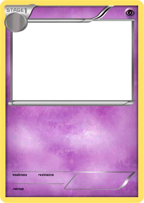 make your own ex card bw psychic stage 1 card blank by the ketchi on