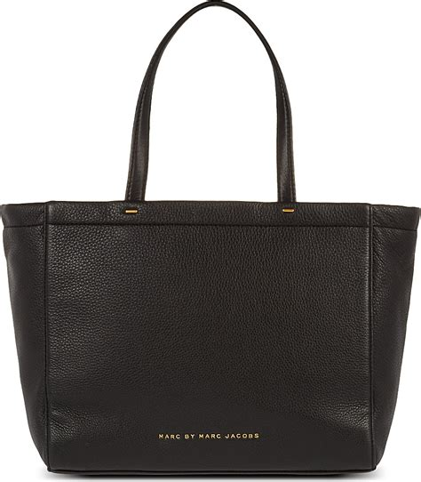 marc black leather tote marc by marc whats the t leather tote in black lyst