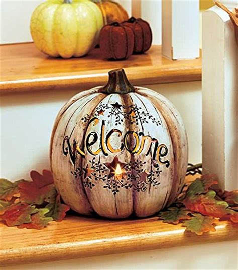 lighted pumpkin decor thanksgiving home decor ideas home designing