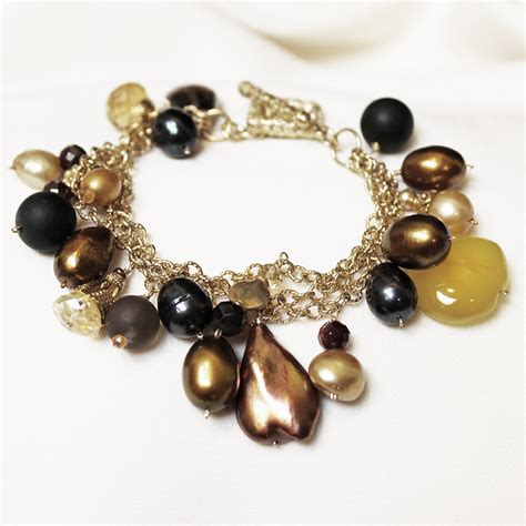 joann jewelry three strand multicolor semi precious joann smyth pearls