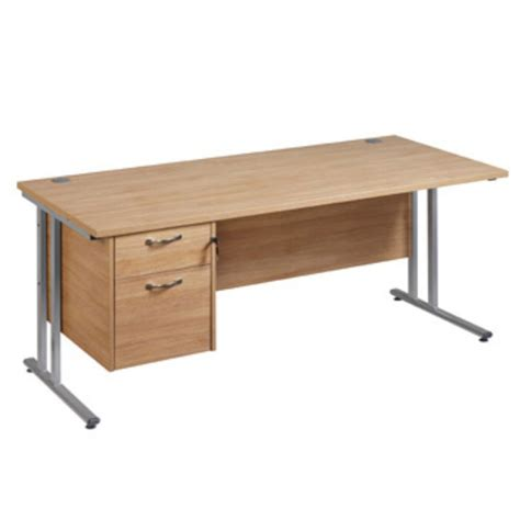 office desk staples maestro plus oak collection clerical cantilever desk 725