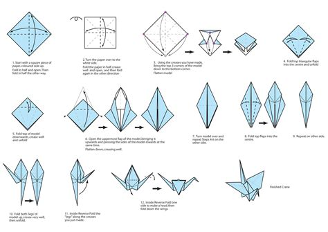 origami crane step by step guide on how to create a colorful rainbow diy crane