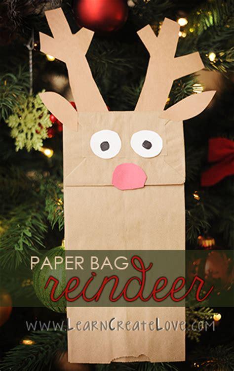 paper bag reindeer craft paper bag reindeer craft