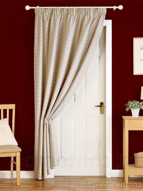 door curtains heavy pencil pleat thermal door curtain