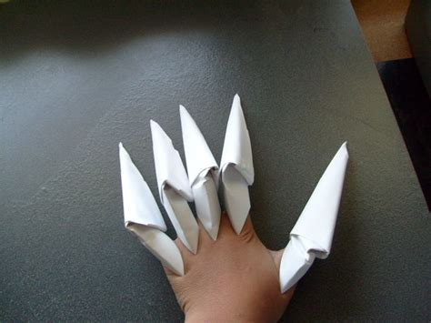origami claws how to make the easiest paper claws