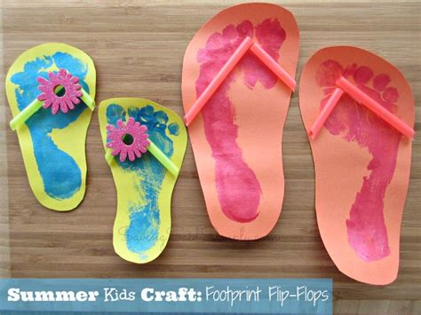 and crafts for summer summer craft footprint flip flops raising whasians