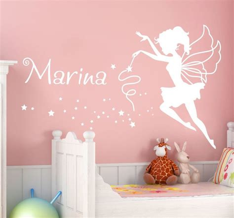 Stickers For Walls Quotes personalised name fairy wall sticker tenstickers