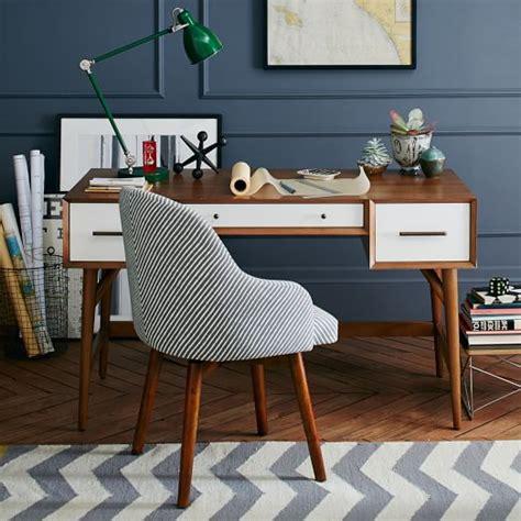 west elm white desk mid century desk acorn white west elm