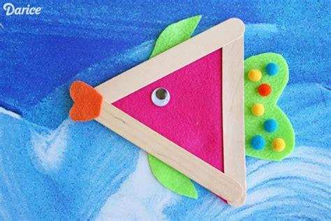 fish craft for diy fish craft with felt and craft sticks darice