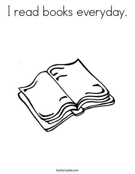colouring pictures of books i read books everyday coloring page twisty noodle
