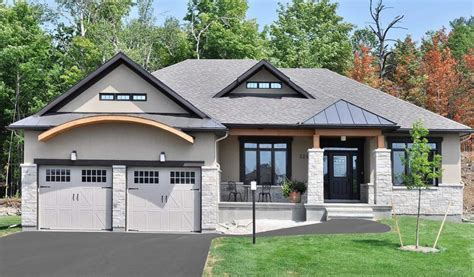 walkout basement home plans bungalow house plans with walkout basement fresh sunset woods beckwith doyle homes architecture