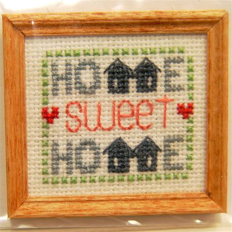 Home Interior Products Catalog framed home sweet home cross stitch stewart dollhouse